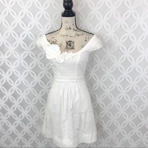BCBGMAXAZRIA White Fit N Flare Mini Dress